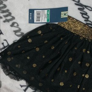 OshKosh B'gosh Bottoms - Gold and Black Tutu Skirt